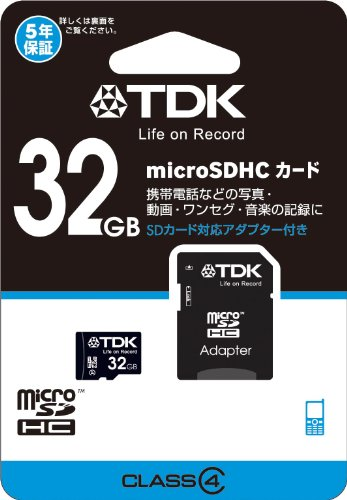 TDK microSDHCカード 32GB Class4 5...