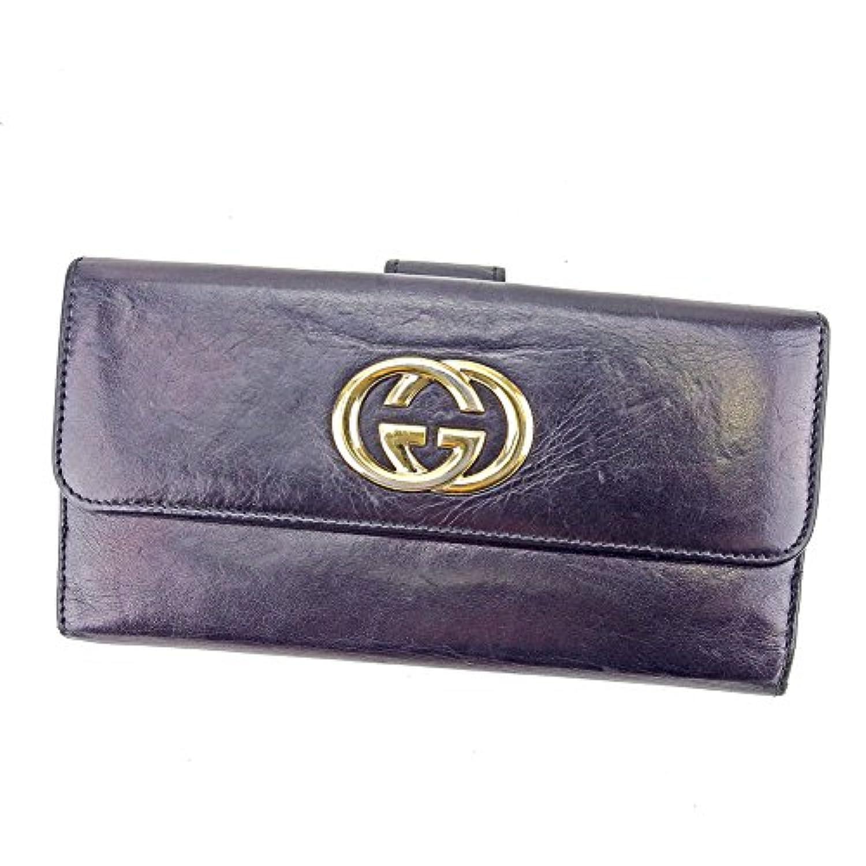 [グッチ] GUCCI 長財布 財布 Wホック レディース メンズ 可 インターロッキングG 162360 ダブルG 中古 T4151