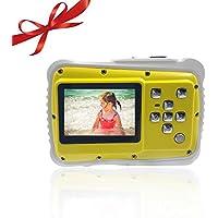 OSEI 子供用デジタルカメラ かわいい 子どもカメラ 子供プレゼント 操作簡単 高画素 3m防水機能付き 防塵 耐衝撃性 多種言語 日本語対応 (イエロー)