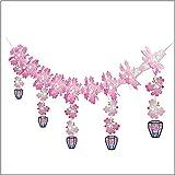 桜装飾 ボンボリつぼみ桜ガーランド L180cm / 飾り ディスプレイ 春  2299