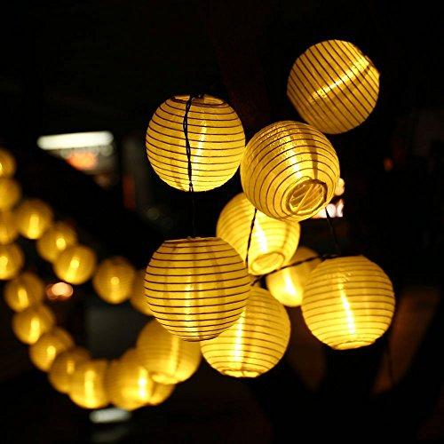 リーダーテク(lederTEK) ソーラー 防雨 電球色 提灯 ランタン 電飾 イルミネーション LED 6m 30球 2点滅モード クリスマス ライト 新年 飾り付け