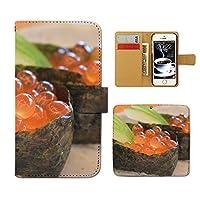(ティアラ) Tiara iPhone6 (4.7) iPhone6 スマホケース 手帳型 food 手帳ケース カバー 食べ物 お寿司 フード イクラ いくら F0259030070102