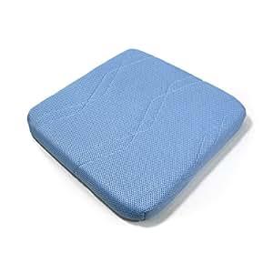 TOBEST 90%が空気で出来ている【エアネスト/シートクッション】高反発 3次元構造 腰楽 蒸れない快適な座り心地 通気性 洗える 専用カバー付き 5cm厚 サックスブルー
