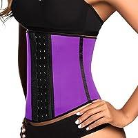Ann Chery Women's Classic 3 Hooks Latex Waist Cincher Shapewear Purple (32 Purple) [並行輸入品]