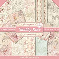 Stamperia Double-Sided Paper Pad 30cm x 30cm 10/Pkg-Shabby Rose, 10 Designs/1 Each
