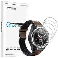 Smartwatch Mobvoi Ticwatch Sport S / Ticwatch E(35mm)用Newzerol [4パック] 2.5Dアークエッジ9硬度高精細強化ガラススクリーンプロテクター