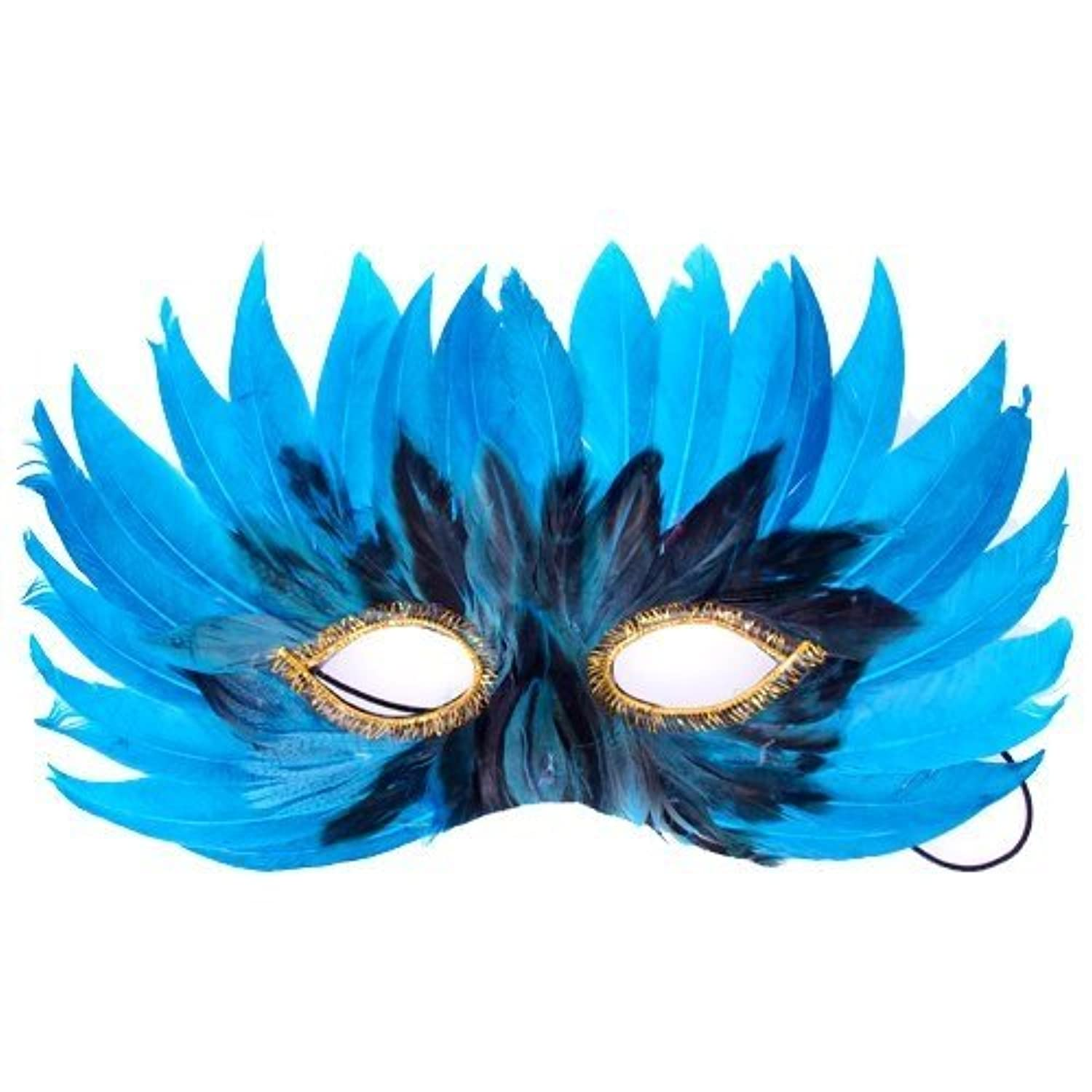 Fun Party Toy - Feather Eye Mask (blue)