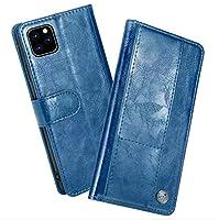 IPhone用11 / 11Proケース、iPhone11ProMax用カードスロット保護カバーケースと磁気耐衝撃PUレザーフリップウォレットホルスター,ブルー,iPhone11Pro