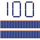 ナーフ ナーフ 弾 ナーフエリート用 N-スト ダーツ 100本 銃の弾丸 弾丸 丸頭仕様 おもちゃ 連射モード切り替え用 7.2cm (ブルー)