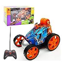 Juhon リモートコントロール カー 360度スピンポータブルファーストキッズ 子供RCカークローラー おもちゃ 8色