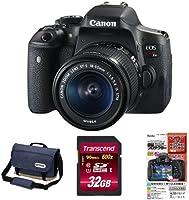 Canon デジタル一眼レフ EOS Kiss X8i レンズキット EF-S18-55mm + OUTDOOR カメラショルダーバッグ02 7.1L ネイビー + 他2点セット