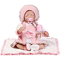 NPK collection 55 cm Rebornベビー人形ソフトSilicone SleepingピンクLovely Lifelike Cute人形