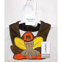 Carters感謝祭トルコBaby Teething Bibブラウンオレンジ子供のコスチューム