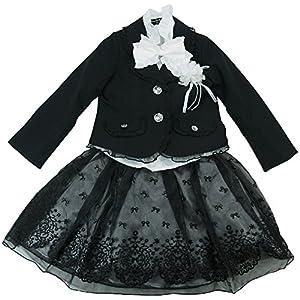 【オールシーズン】 formal wear(フォーマルウエア)女児フォーマル3点スーツ ジャケット&ブラウス&スカート 120cm /ブラック NO.BF-59603