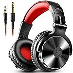 DJヘッドホン 密閉型モニターヘッドホン オーバーイヤーヘッドフォン スタジオレコーディング/楽器練習/ミキシング/TV視聴/映画鑑賞/ゲームなどに対応…