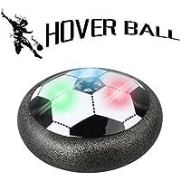 Smmer Hover BallエアパワーサッカーディスクFootballセットforキッドBoys Girls Giftsインドアアウトドアゲームwith LED lights ブラック SOC002
