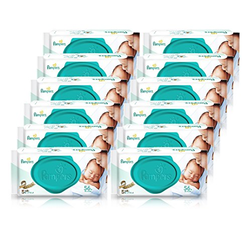 Best-Selling baby goods in Japan [case sale] pampers umbrella wipe the top of the skin 56 packs � 12 packs