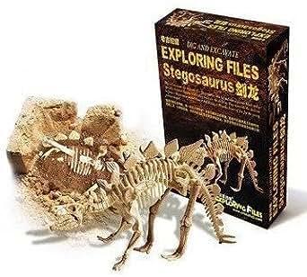 【気分は考古学者! 】ステゴ ザウルス 骨格 標本 化石 発掘 キット Stegosaurus 気分は 考古学者! 思わず没頭してしまう化石発掘の気持ちをあなたへ