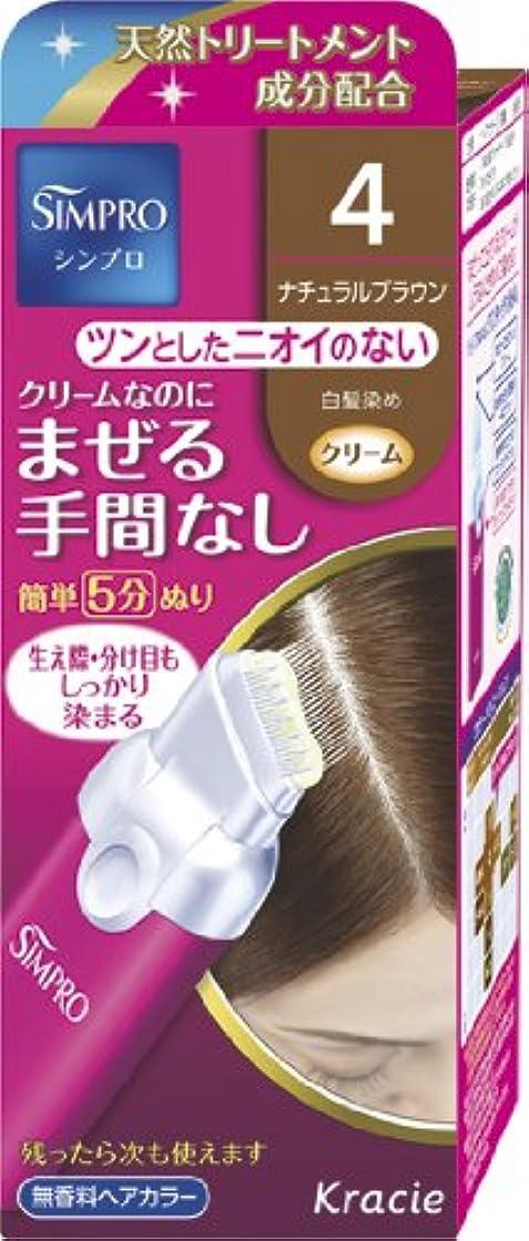 経由でふりをする条件付きシンプロ ワンタッチ無香料ヘアカラー 4