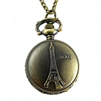Youyoupifa 5 Pieces /バッチレトロフランスパリエッフェル塔建築設計デザインRelief Small Pocket Watch