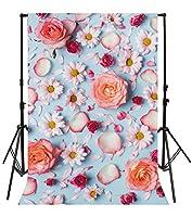 Yeele 8x 10ftピンク花柄写真の背景幕ビニールカラフルフラットLay Blossoming Flower写真背景パーティー装飾Girl大人Lady Artistic PortraitアクティビティShootingビデオStudio小道具
