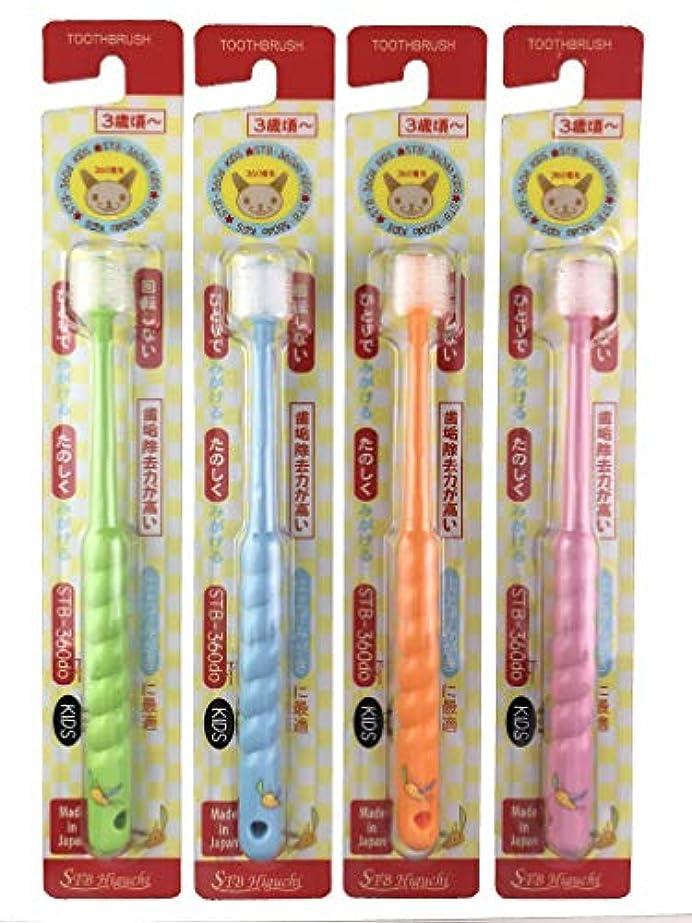 必需品ごちそう薬360度毛歯ブラシ STB-360do キッズ (カラーは1色おまかせ)