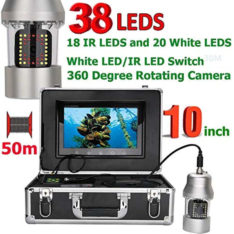応用実験をするアイロニー9インチ水中釣りビデオカメラ魚群探知機IP68防水38個のLED 360度回転カメラ