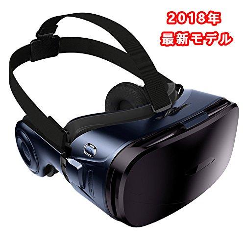 Urgod VRゴーグル 3D メガネ イヤホン実装 3D 動画 ゲーム 映画 4.7-6.2インチiphone/android/IOSなどに対応