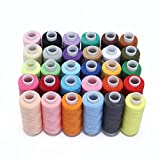 Candorano 卸売ミシン糸のコイル30の各色250ヤードのポリエステルのすべての目的