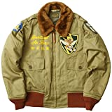 BUZZ RICKSON'S #BR13616 B-10 フライトジャケット RED RIB VERSION 『23rd Fighter Group 14th Air Force』 42ワンカラー