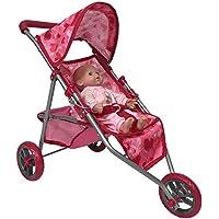 Doll Jogging Stroller - Pink Hearts Designed Jogging Stroller for Dolls [並行輸入品]