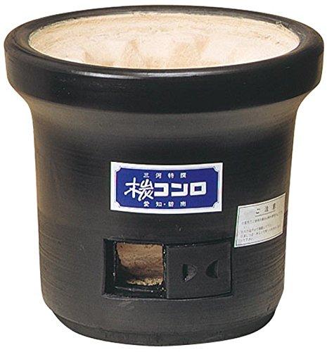 三河産黒七輪 直径27cm 杉松製陶製 黒木炭コンロ