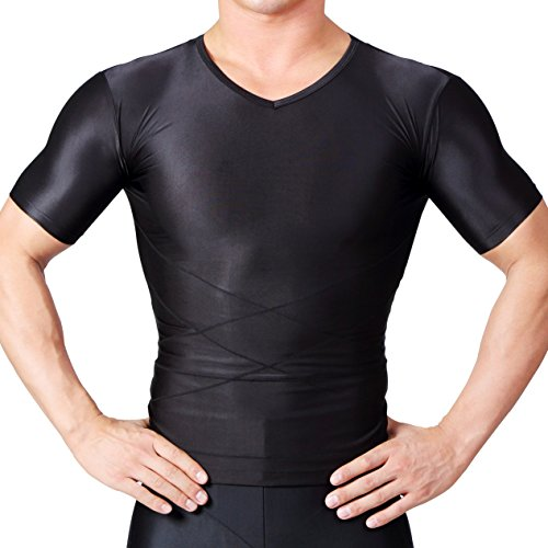 スパルタックス コンプレッションウェア メンズ 加圧インナー 加圧シャツ (S, 黒)