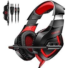 ゲーミングヘッドセット PS4 PC ヘッドセットPowangle 高音質 軽量 PCゲーム ヘッドホン 騒音抑制マイク付き 3.5mmジャック ヘッドアーム伸縮可能 Switch Xbox One タブレット PC スマホ などの機種に対応 日本語取り扱い