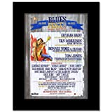BLUES FEST 2012 - Erykah Badu Van Morrison Mini Poster - 28.5x21cm