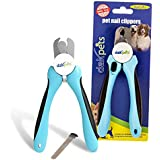 Best Dog Nail Clippers and Trimmer by DakPets - Easy to use Dog Nail Trimmer and Toenail Clippers - Razor Sharp Blades - Sturdy Non Slip Handles - Safe, Professional Home Grooming