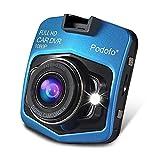 Podofo ドライブレコーダー 1080PフルHD 140度広角 2.4インチ ダッシュカム 車載カメラ Gセンサー搭載 ナイトビジョン ループ録画 (青い) 12ヶ月保証