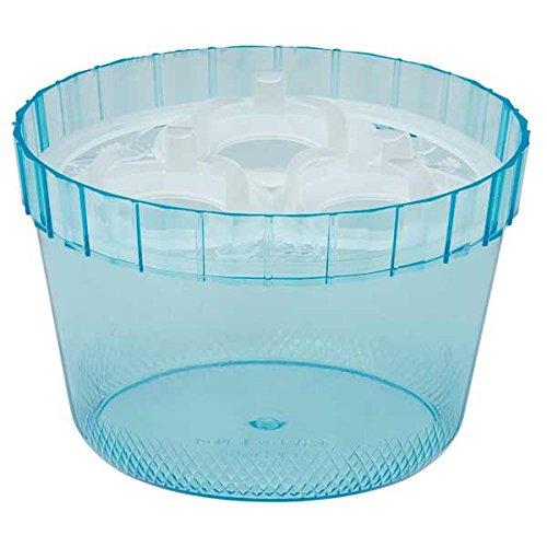 水栽培用ポット:ヒヤシンス3球用プラスチックポットNo.4(ブルー) 4個セット ノーブランド品