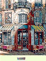 LovetheFamily バラード酒屋 数字キットによる絵画 数字油絵 数字キット塗り絵 手塗り DIY絵 デジタル油絵 ホーム オフィス装飾 (40x50cm, フレームレス)