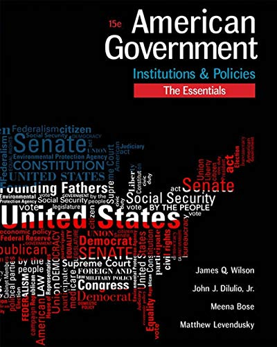 Download American Government: Institutions & Policies: The Essentials 1305500075