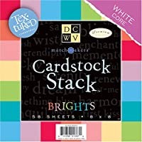 DCWV スタック 8 x 8 - Single-Sided - Brights - Textured カードストック - White Core - 58 シート CS-003-00002