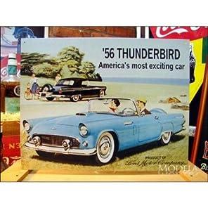 アメリカンブリキ看板 サンダーバード -'56 Ford Thunderbird-