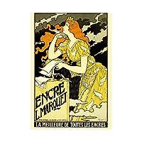 Vintage Advert Woman Writing Nouveau Grasset Wall Art Print ビンテージ広告女性ヌーボー壁