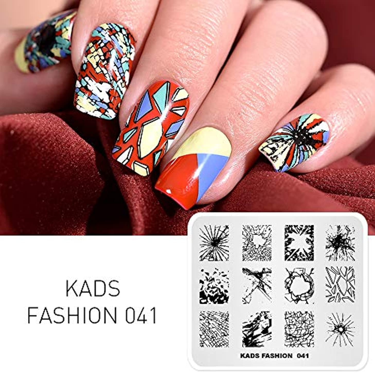 含めるクリック養うKADS スタンピングプレート ファッションスタイル ネイルプレート ネイルイメージプレート ファッションスタイル (FA041)