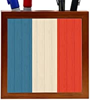 Rikki Knight Clipperton Island Flag on Distressed Wood Design 5-Inch Wooden Tile Pen Holder (RK-PH8694) [並行輸入品]