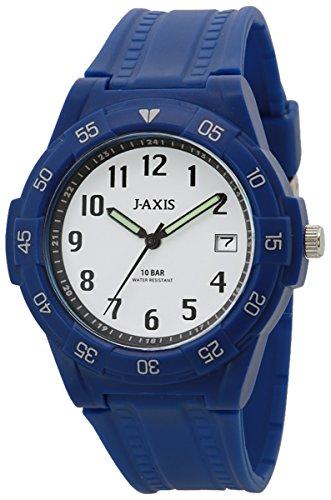 [ジェイアクシス]J-AXIS 腕時計 10気圧防水 日付表示 見やすい文字盤 軽い NAG49-BLW メンズ