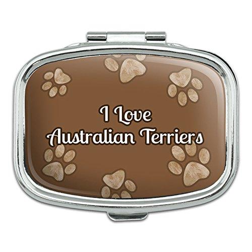 I 愛ハート - オーストラリアン・テリア - 長方形ピルボックス
