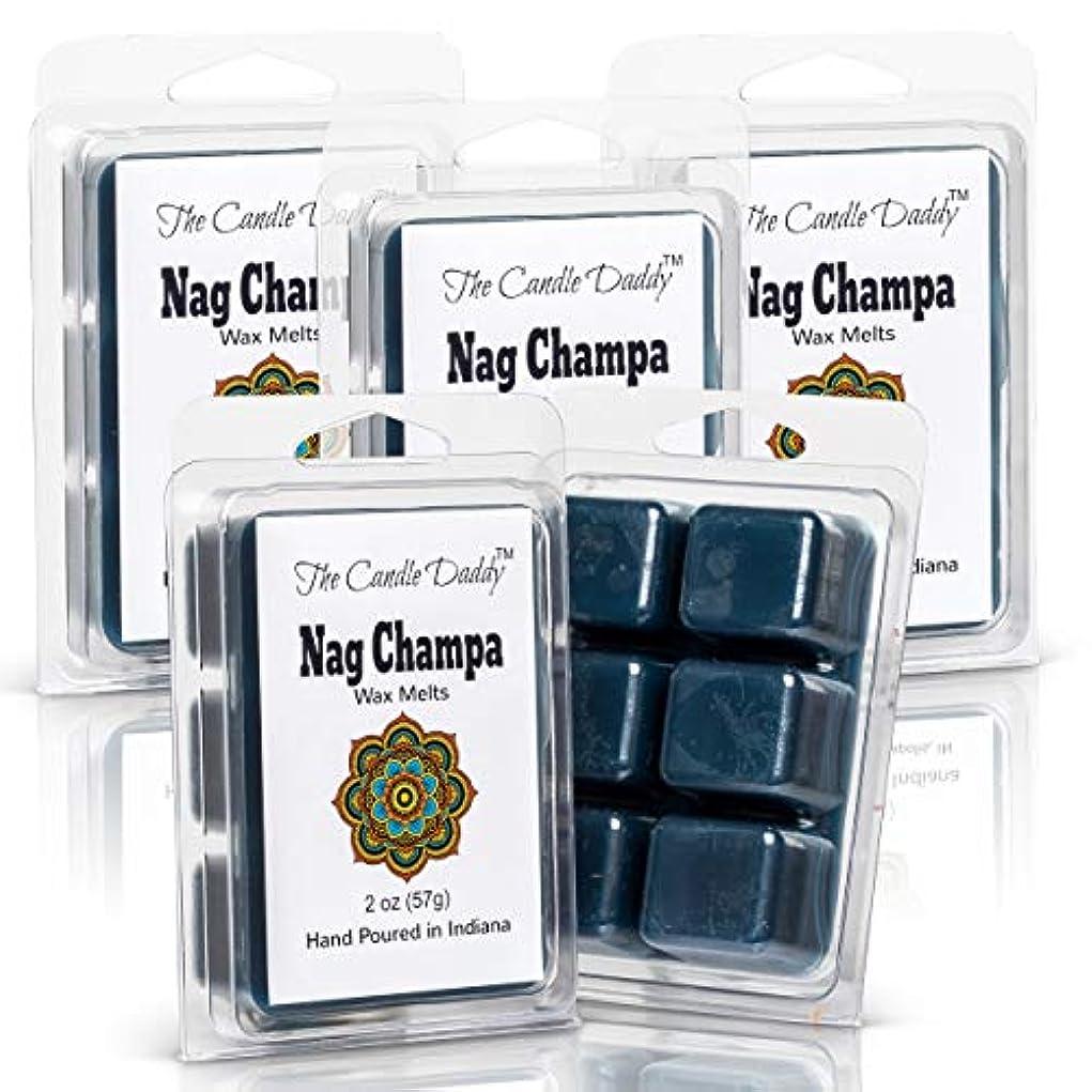 不器用津波結び目The Candle Daddy Nag Champa - 最大香りのワックスキューブ/タルト/メルト- 5パック、合計10オンス、30キューブ。