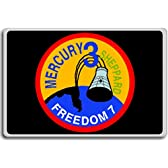 Mr-3 Freedom 7 1961 Project Mercury Mission Insignia fridge magnet - 蜀キ阡オ蠎ォ逕ィ繝槭げ繝阪ャ繝