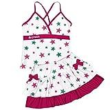 アスナロ(水着)セパレート水着子供女の子ジュニアcrocsクロックス2点SET160白-ピンク